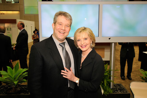 Dr. Crane with Florence Henderson